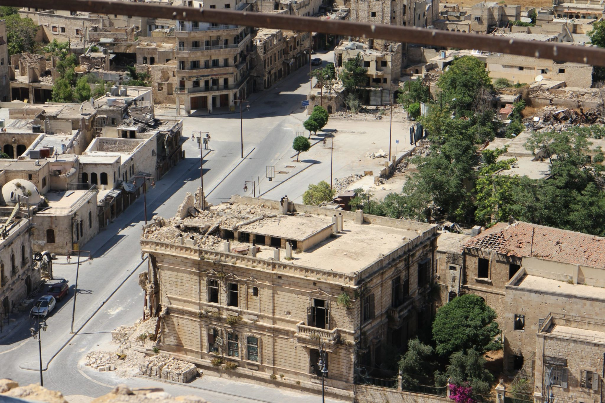 Concrete buildings in Aleppo, Syria